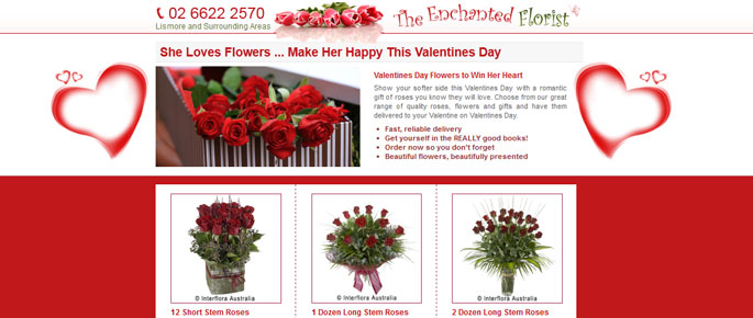 The Enchanted Florist Valentines Flowers