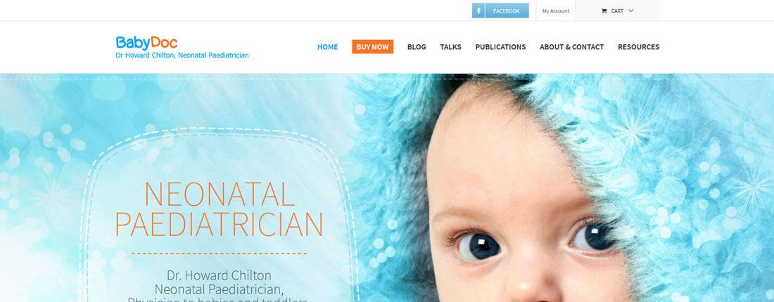Laughing Buddha Web Design Portfolio - Babydoc Byron Bay