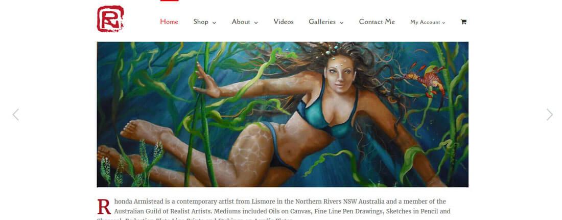 Laughing Buddha Web Design Portfolio - Rhonda Armistead Lismore
