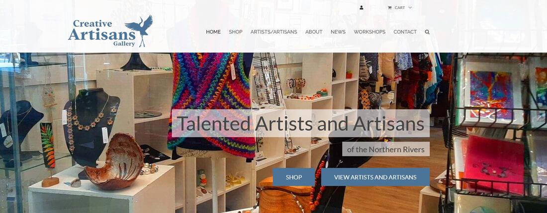 Laughing Buddha Web Design Portfolio - Creative Artisans Gallery