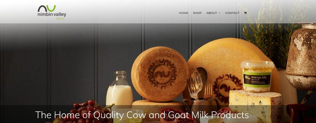 Laughing Buddha Web Design Portfolio - Nimbin Valley Dairy