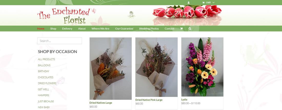 Laughing Buddha Web Design Portfolio - The Enchanted Florist